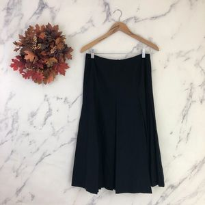 VTG Talbots Pleated Midi Skirt in Black